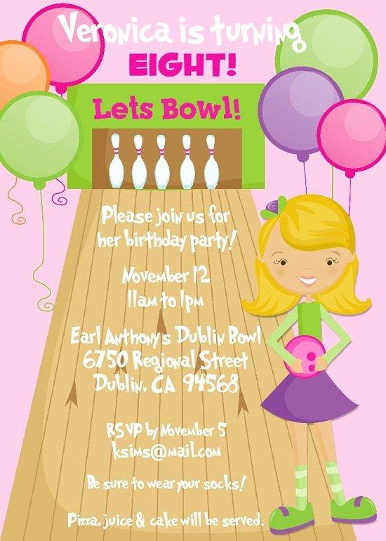 Bowling Birthday Party Invitations Ideas – Bagvania Free