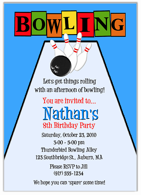 Bowling Party Invitations Templates Free Cliparts
