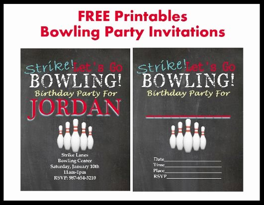 Bowling Party Printable Invitation – orderecigsjuicefo