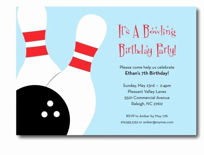 Bowling Pin Invitation Template Templates Resume