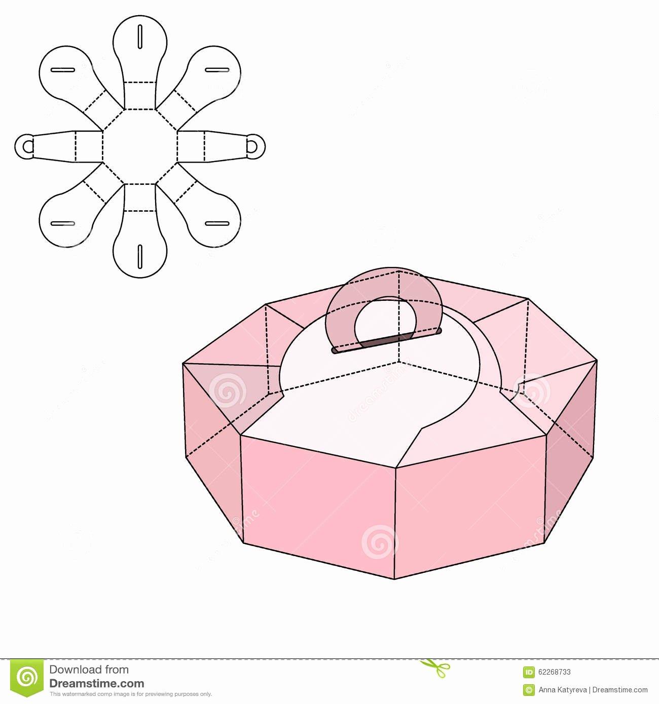 Box Die Cut Stock Vector Image
