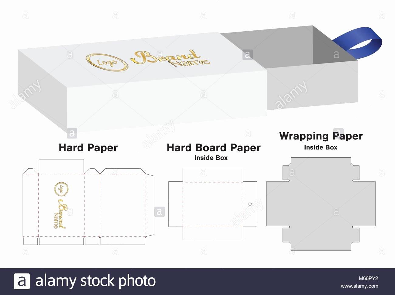 Box Packaging Cut Template Design 3d Mock Up Stock
