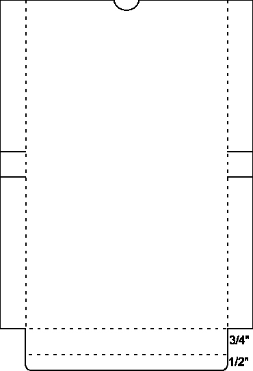 Box Template for A2 Envelopes and Cards