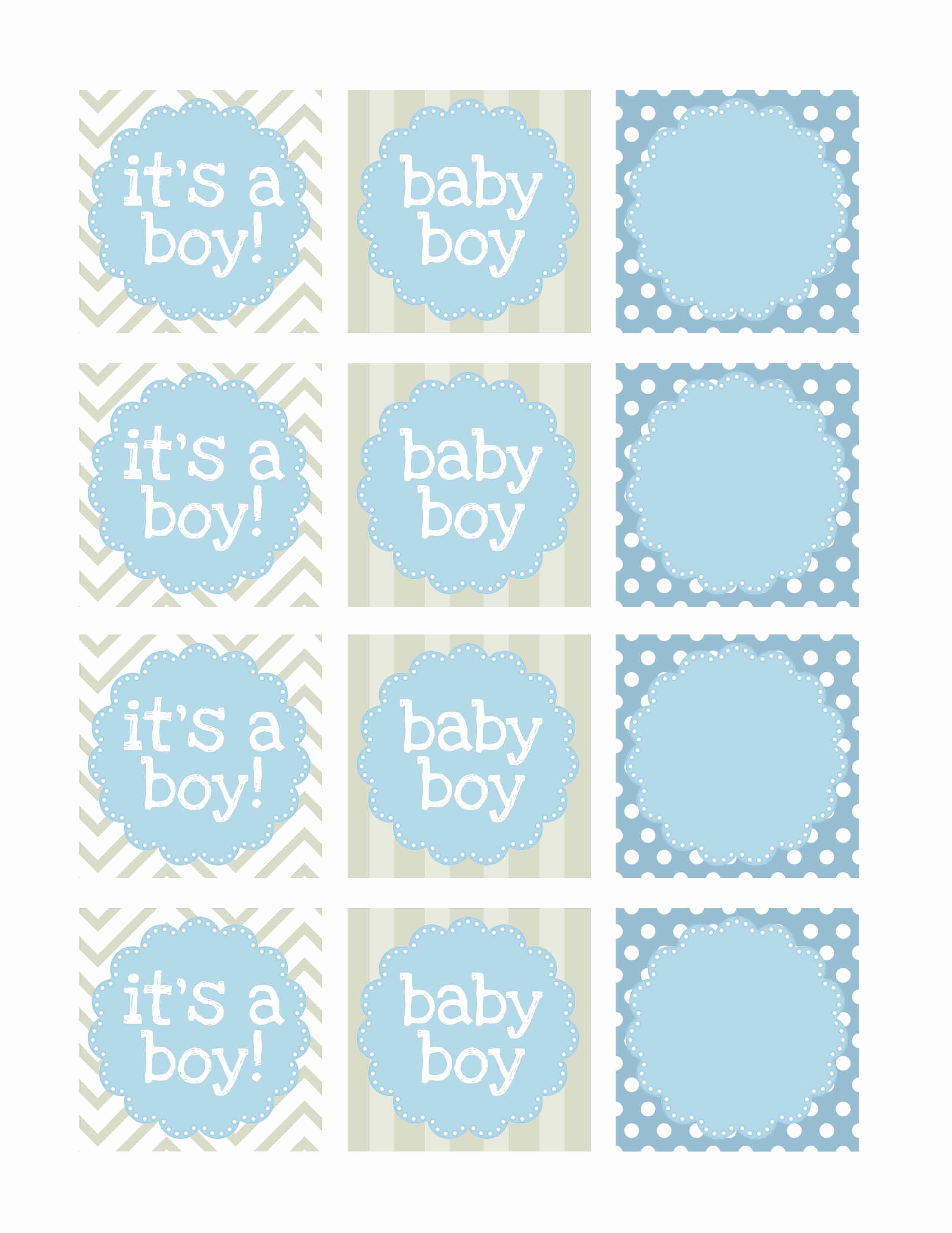 Boy Baby Shower Free Printables How to Nest for Less™
