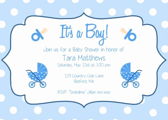 Boy Baby Shower Party Invitation Template It S A