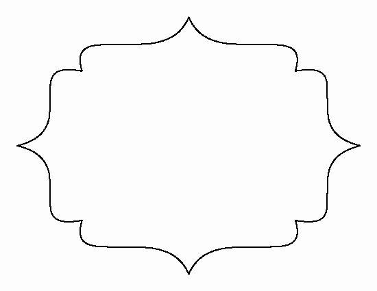 Bracket Frame Pattern Use the Printable Outline for