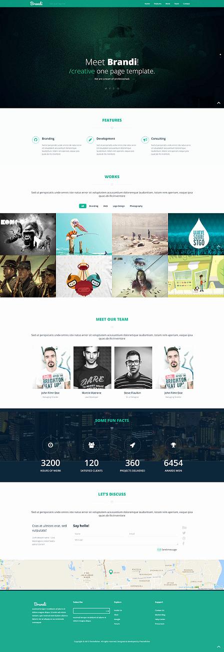 Brandi E Page Website Template 5 Responsive Free