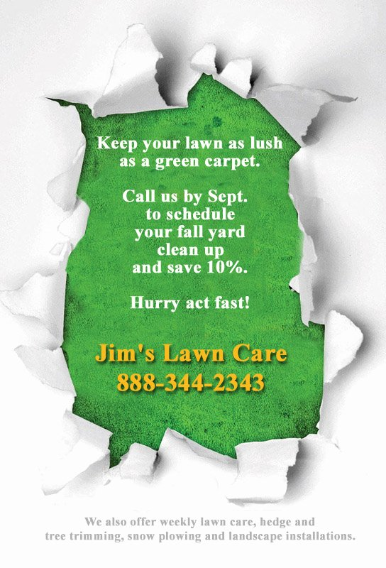 Break Through Lawn Care Flyer