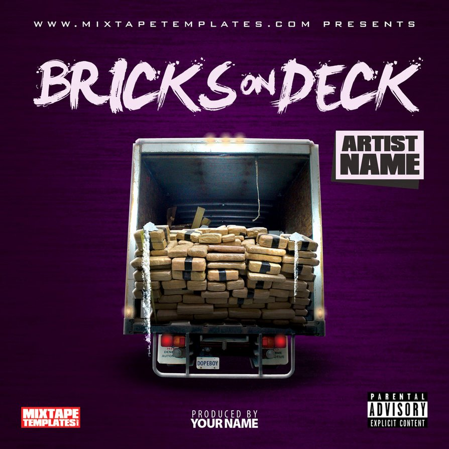 Bricks Deck Mixtape Cover Template by