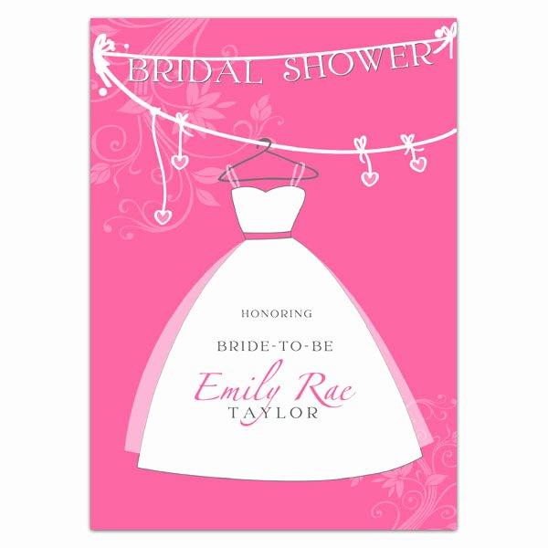 Bridal Gown Lavender Shower Invitations
