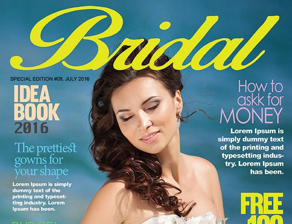 Bridal Magazine Cover Psd Template – Graphicloads