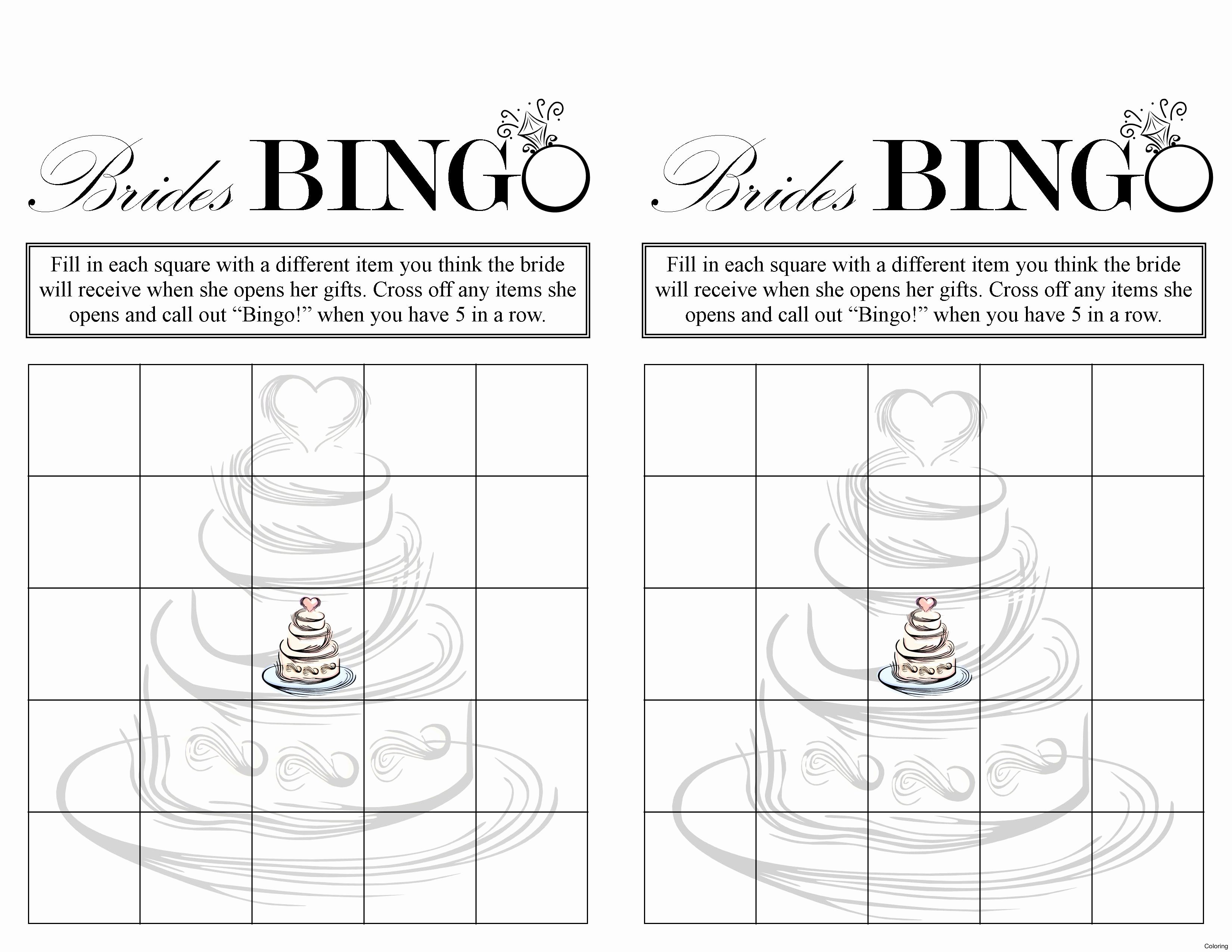 Bridal Shower Bingo Printable Free Image Cabinets and