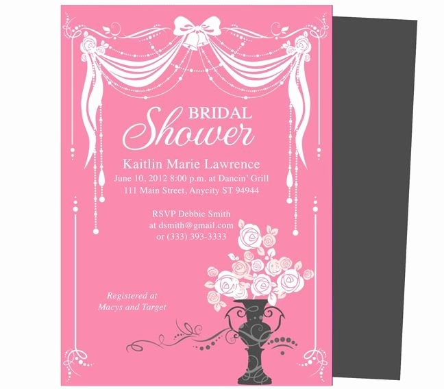 Bridal Shower Invitation Free Templates for Word