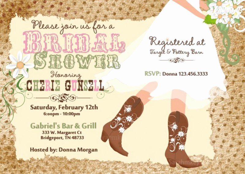 Bridal Shower Invitation Template Free Western