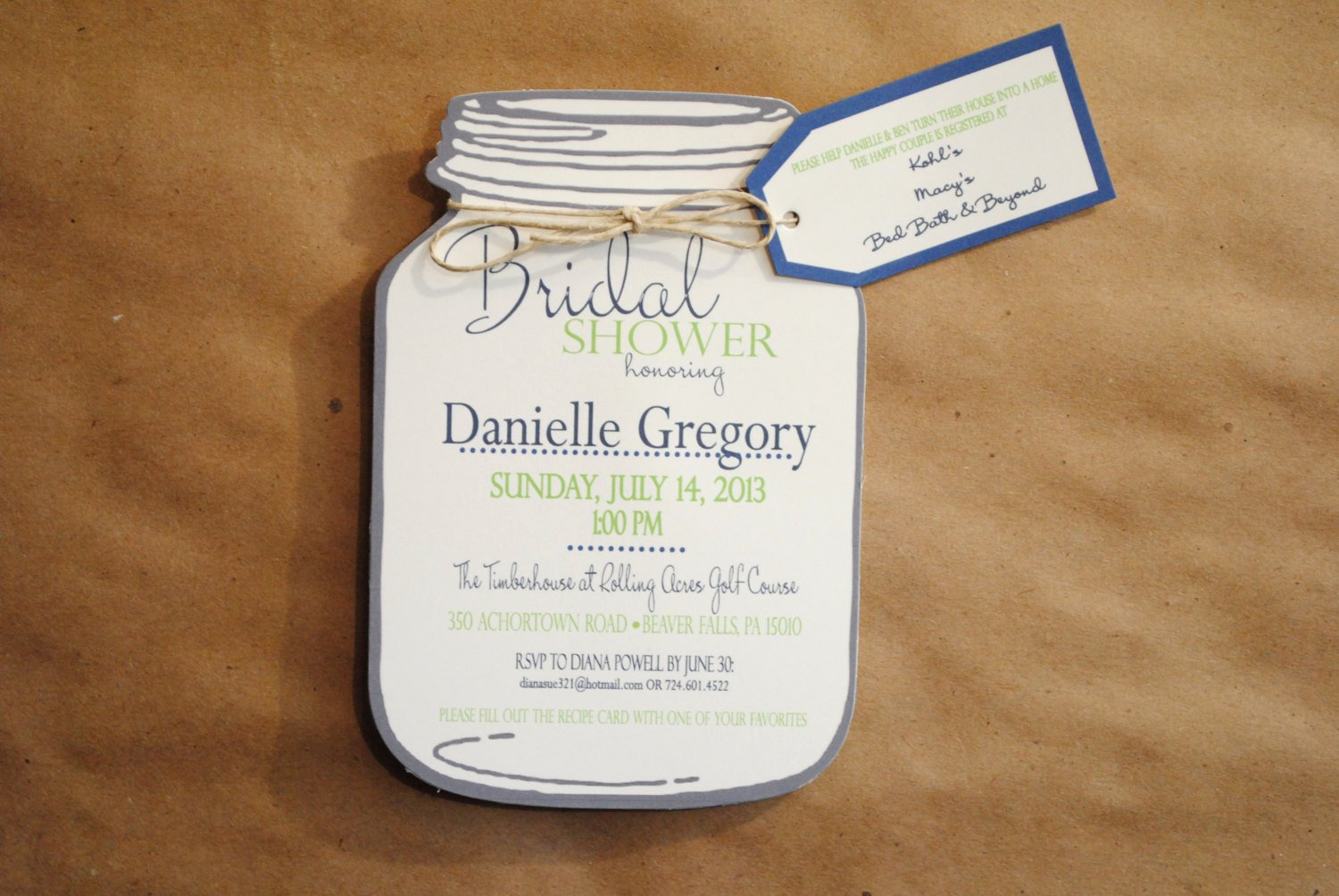 Bridal Shower Invitation Templates Mason Jar Bridal Shower