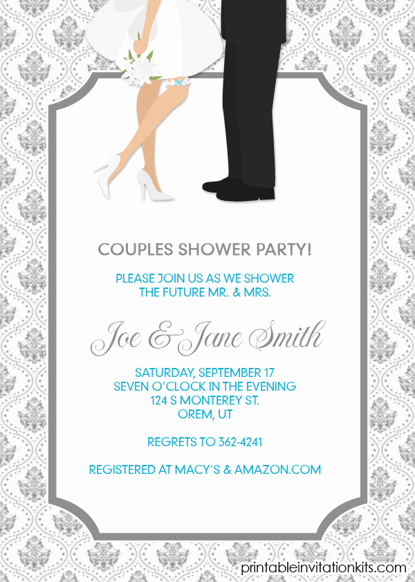 Bridal Shower Invitations Couples Wedding Shower