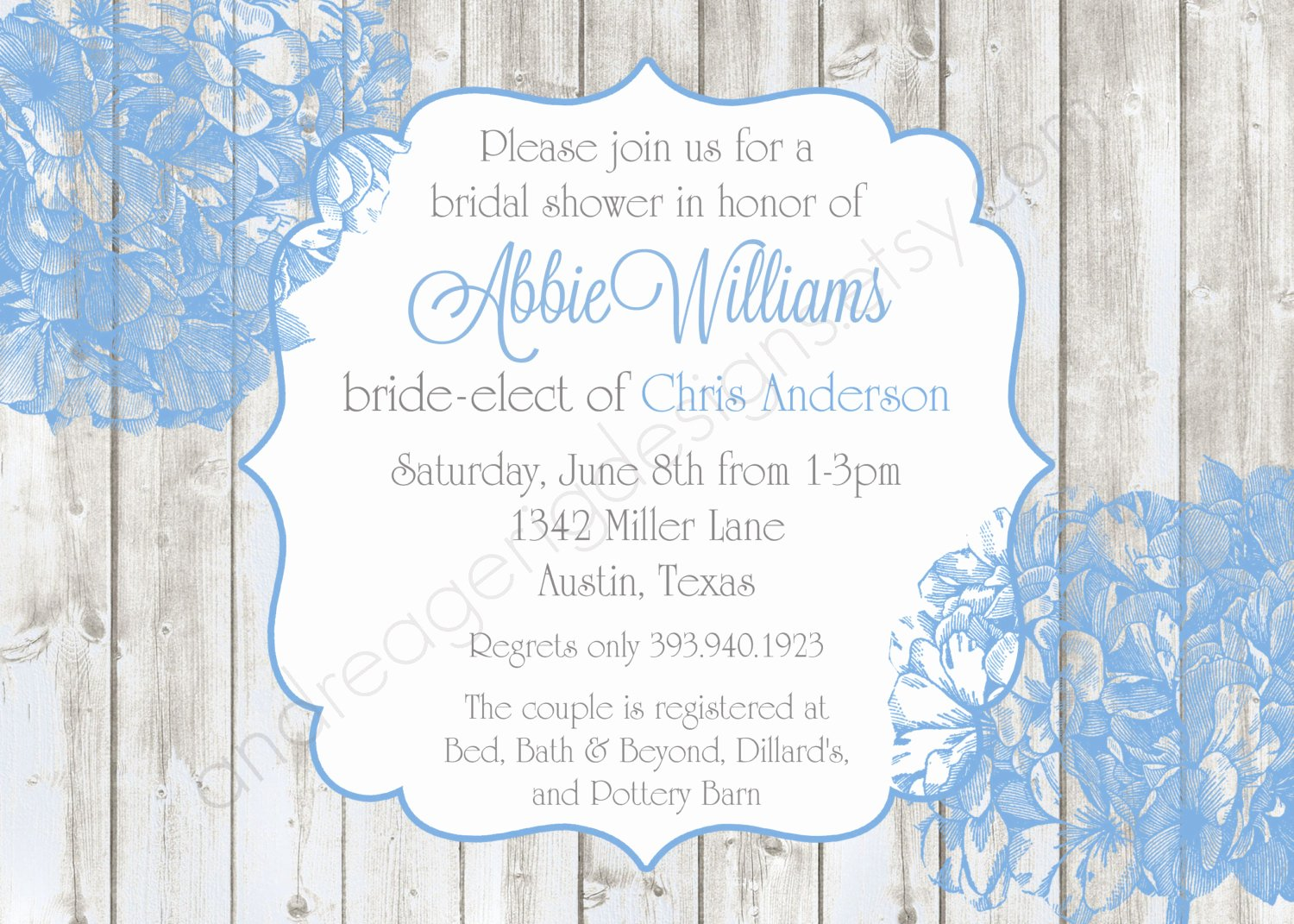Bridal Shower Invitations Microsoft Bridal Shower