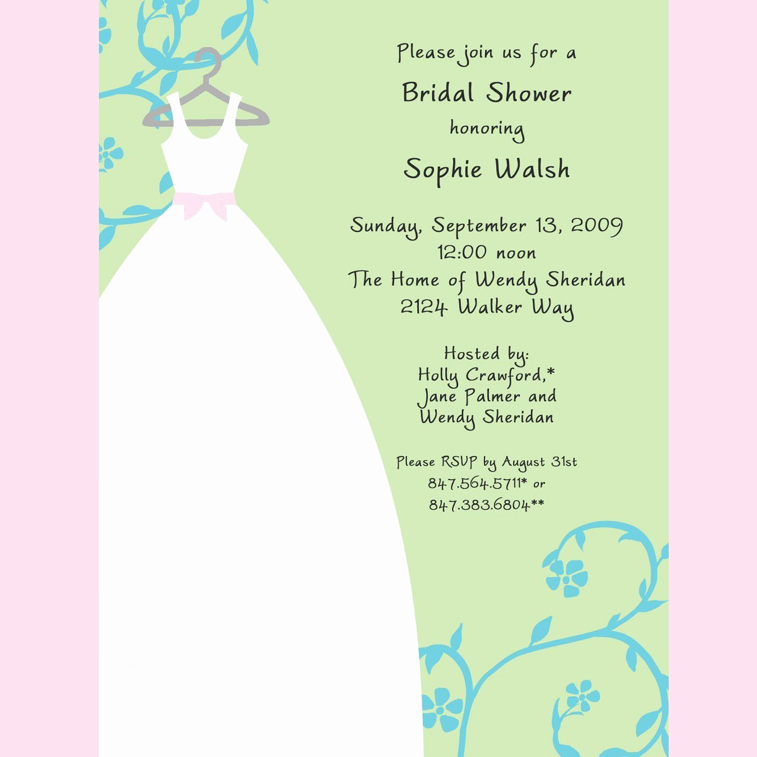 Bridal Shower Invitations Samples Bridal Shower
