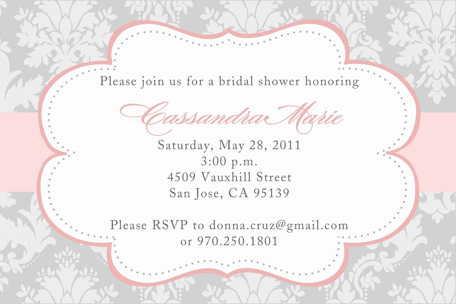 Bridal Shower Invitations Templates Bridal Shower