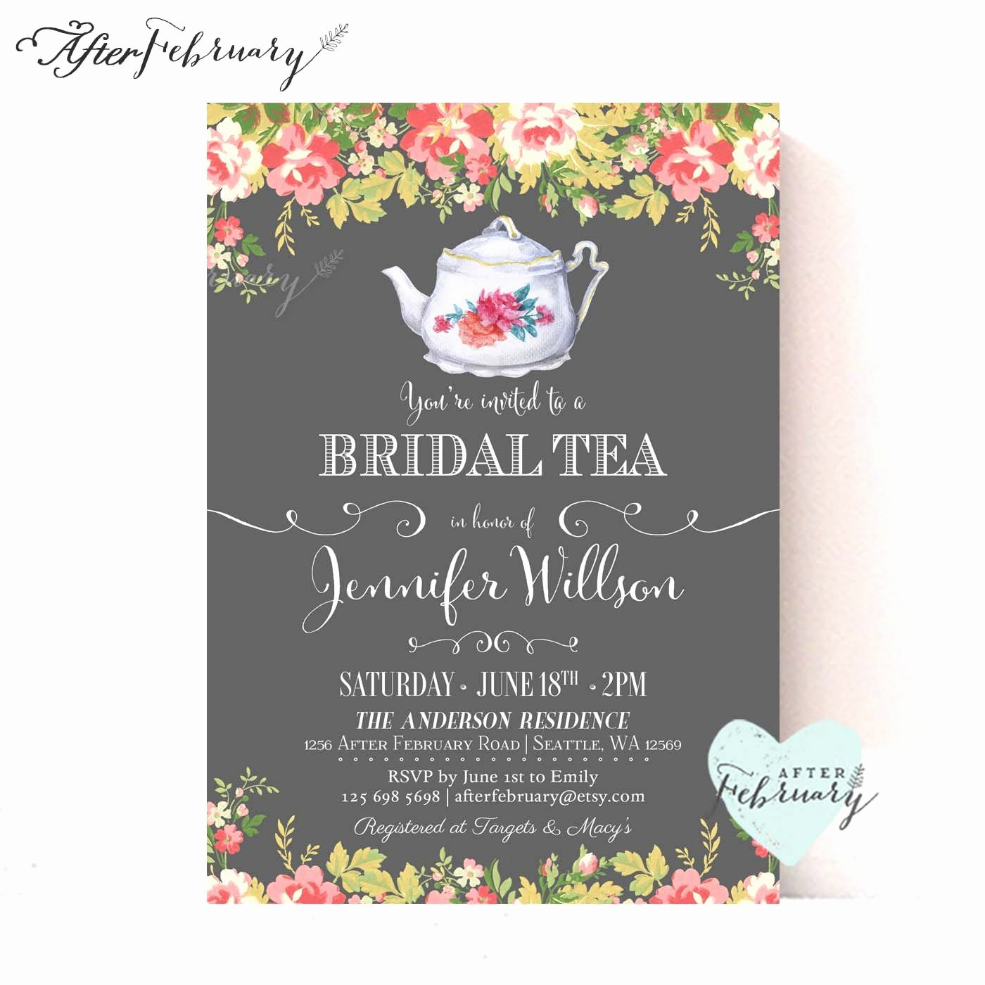 Bridal Shower Invite Bridal Shower Invite Wording Card