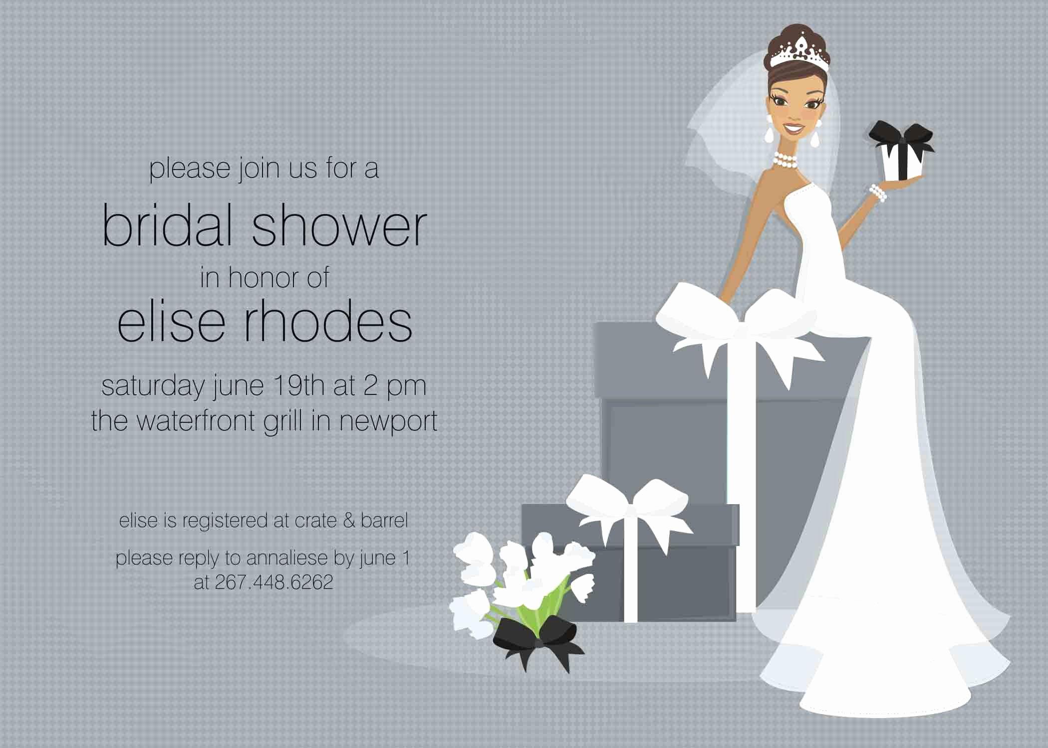 Bridal Shower Invite Template Chanel Bridal Shower