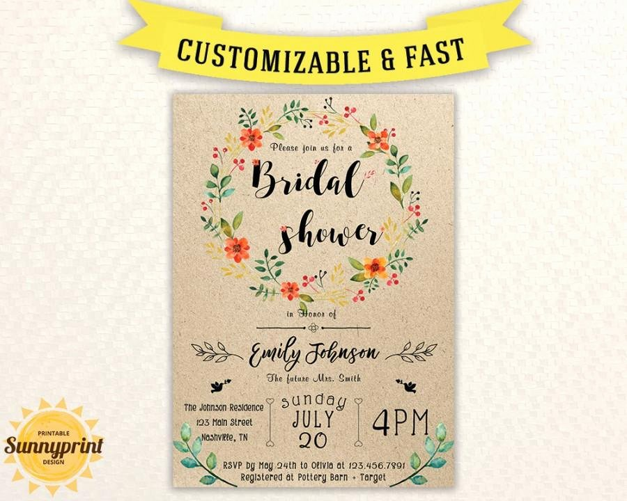 Bridal Shower Invites Bridal Shower Vintage Bridal