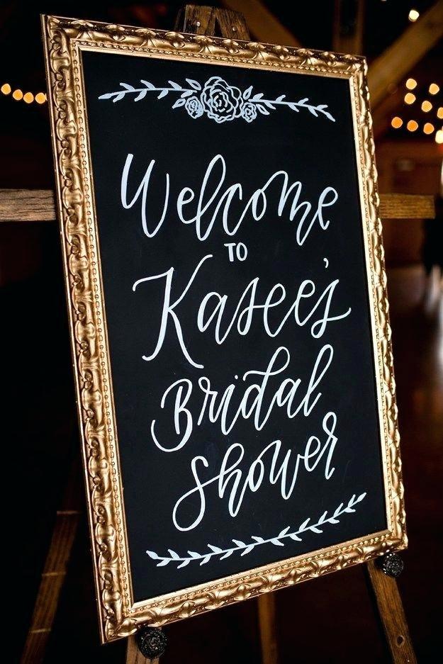 Bridal Shower Sign Chalkboard Bridal Shower Wel E Sign A