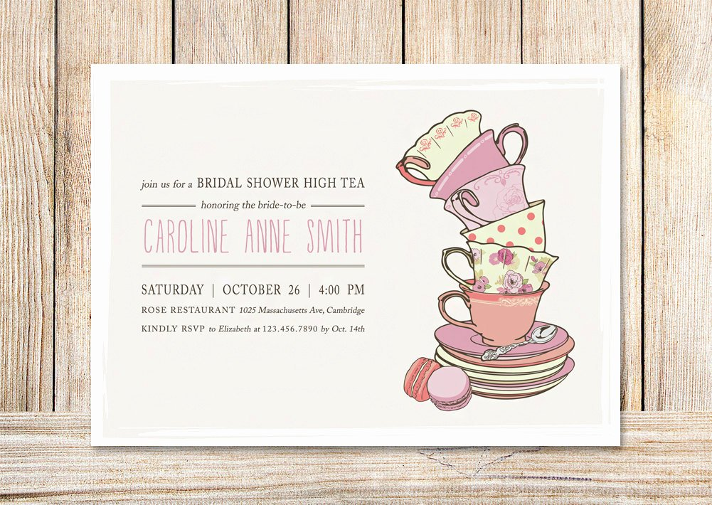 Bridal Shower Tea Party Invitations Template