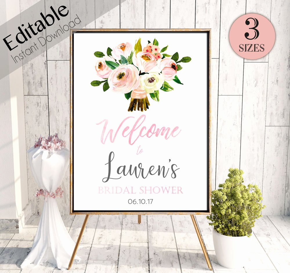 Bridal Shower Wel E Sign Template Gallery Template