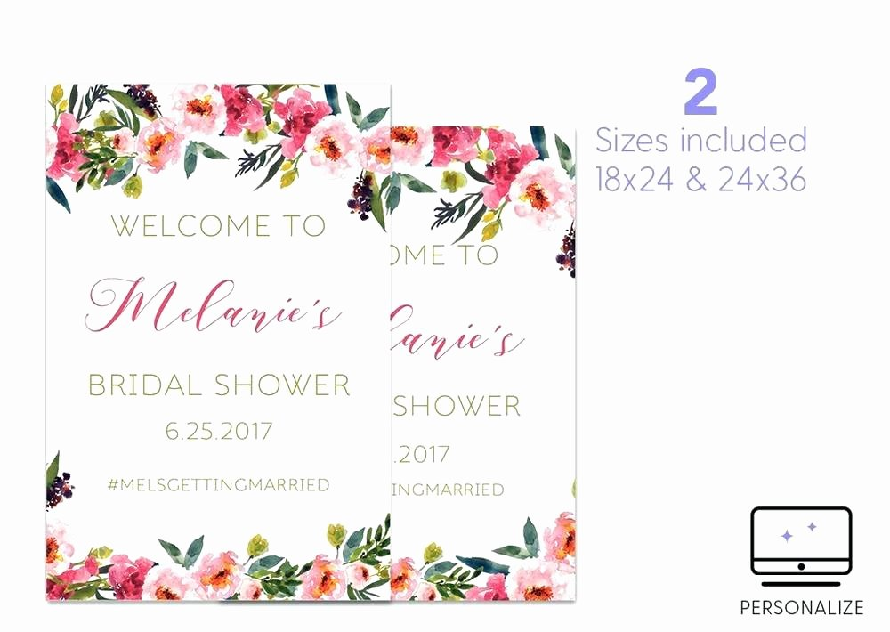 Bridal Shower Wel E Sign Template – Giancarlosopofo