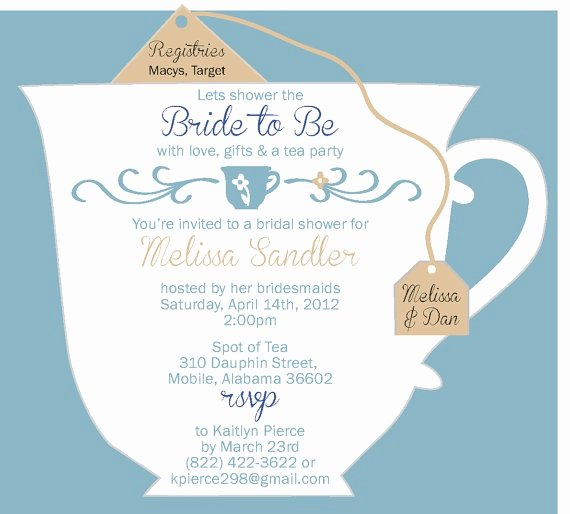 Bridal Tea Party Invitations