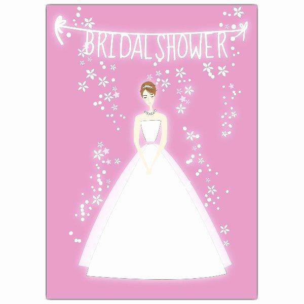 Bride Pink Bridal Shower Invitations