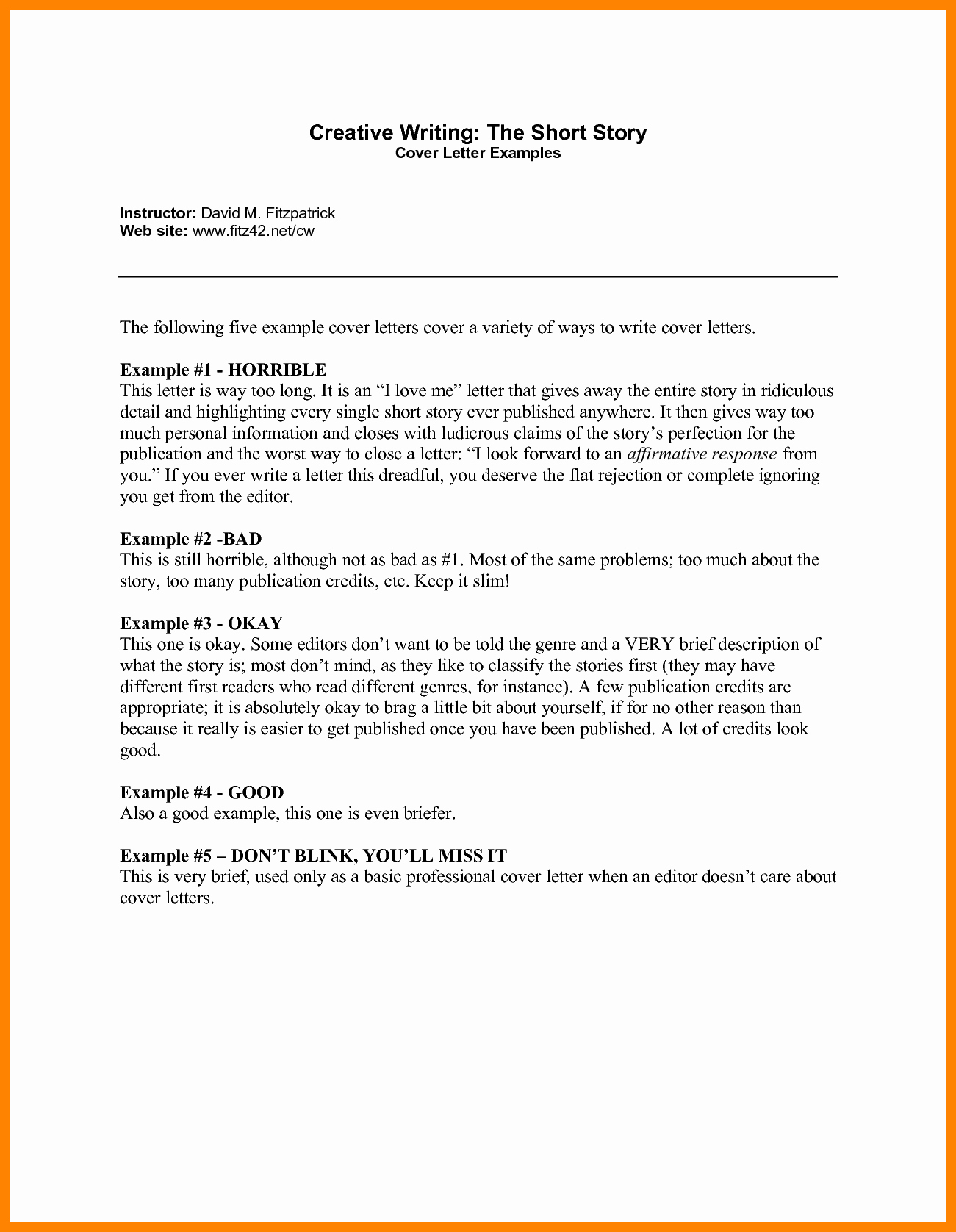 Brief Covering Letter Example Cover Letter Samples