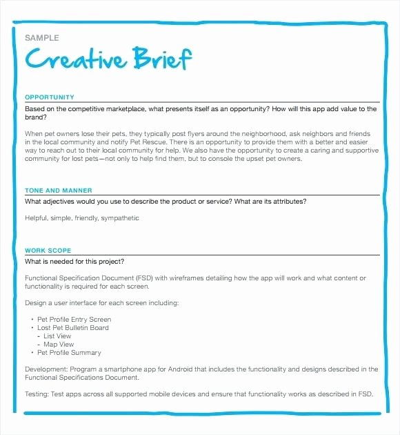 Brief Template Microsoft Word Ms Word Executive Summary