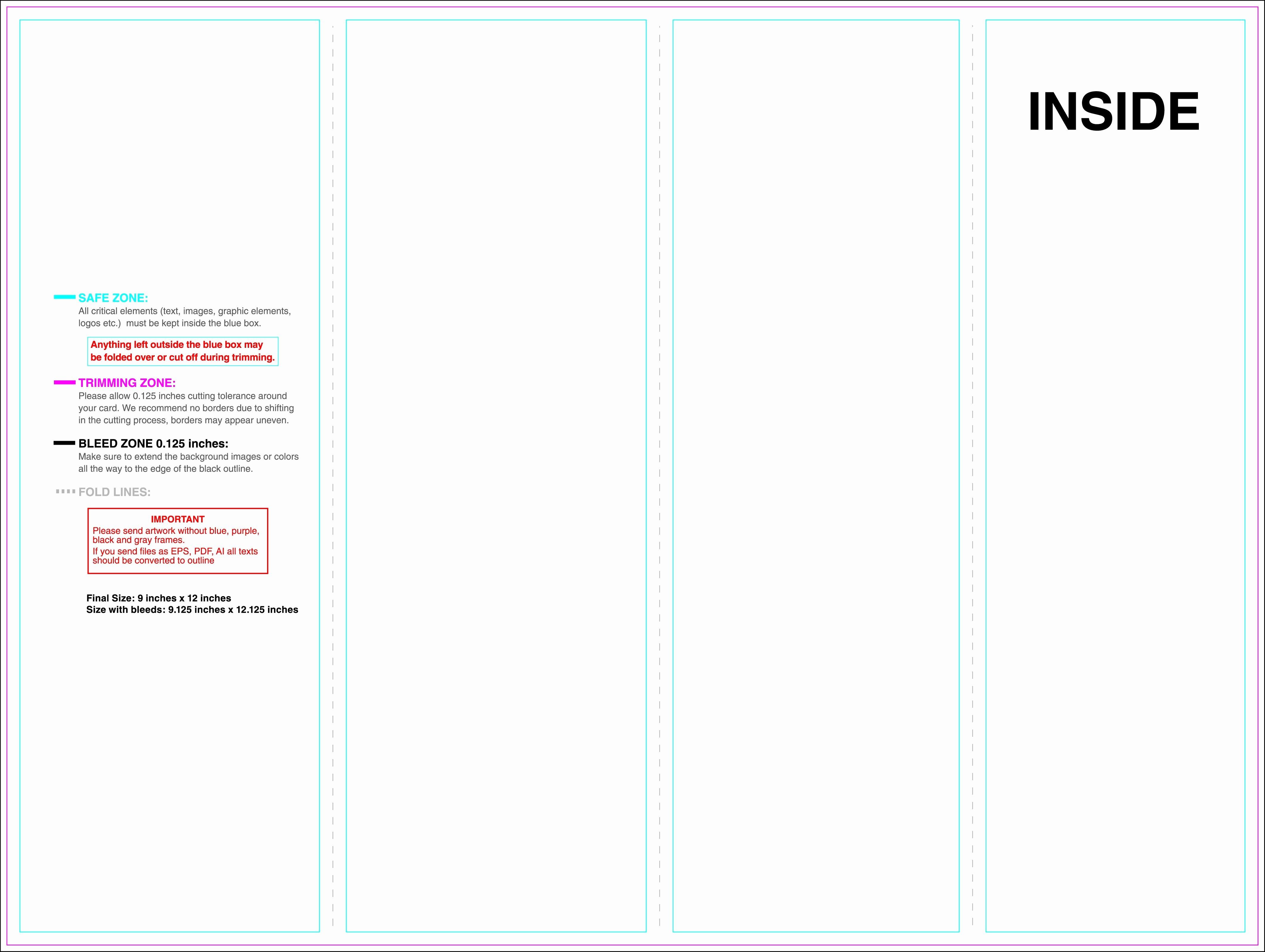 Brochure 4 Panel Brochure Template 4 Panel Brochure Template