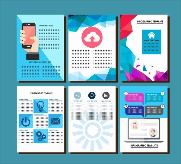 Brochure Design with Infographic Templates Illustration