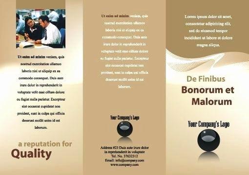 Brochure Template Adobe Illustrator Free Pamphlet Vector