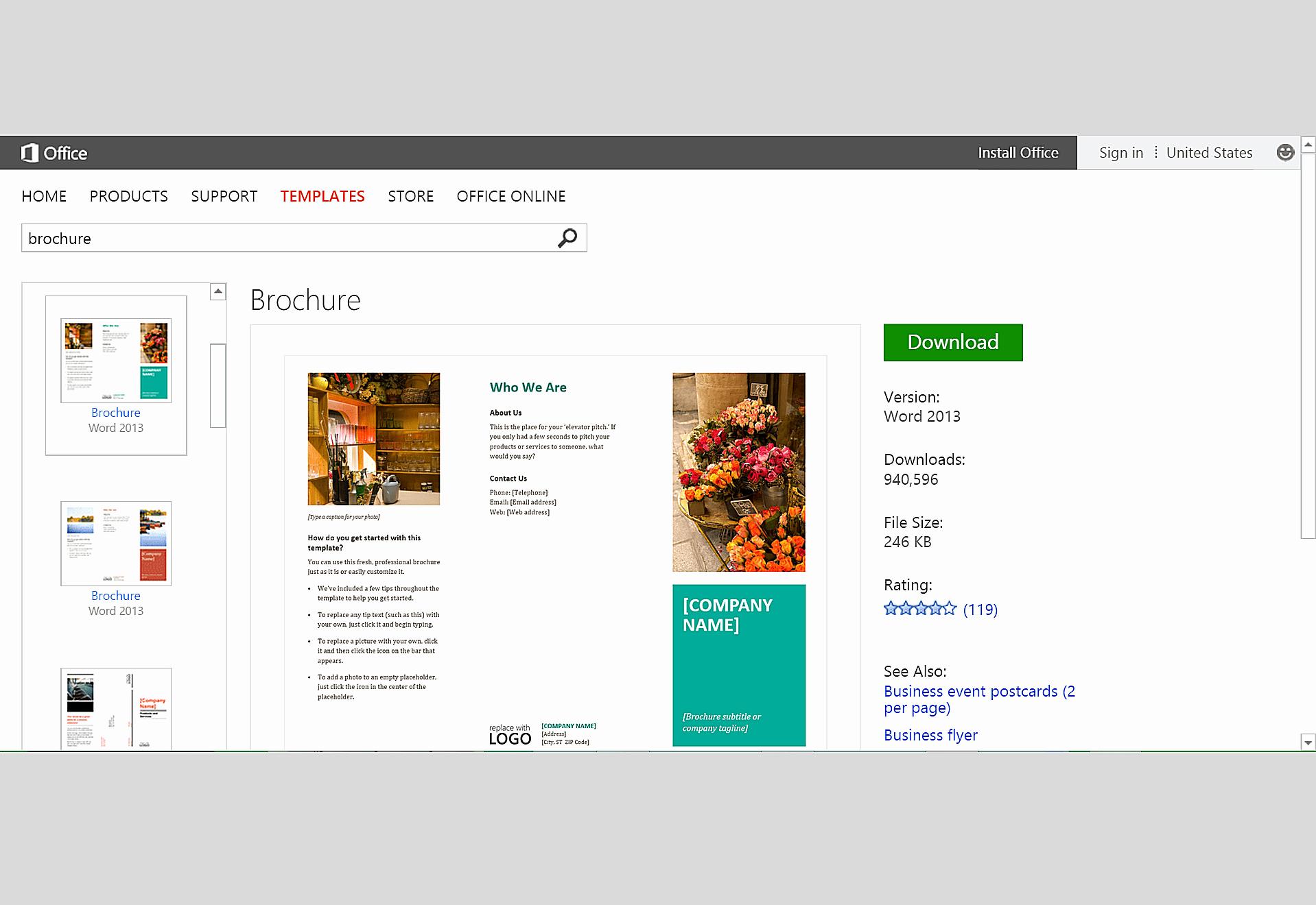 Brochure Template Free Download Microsoft Word