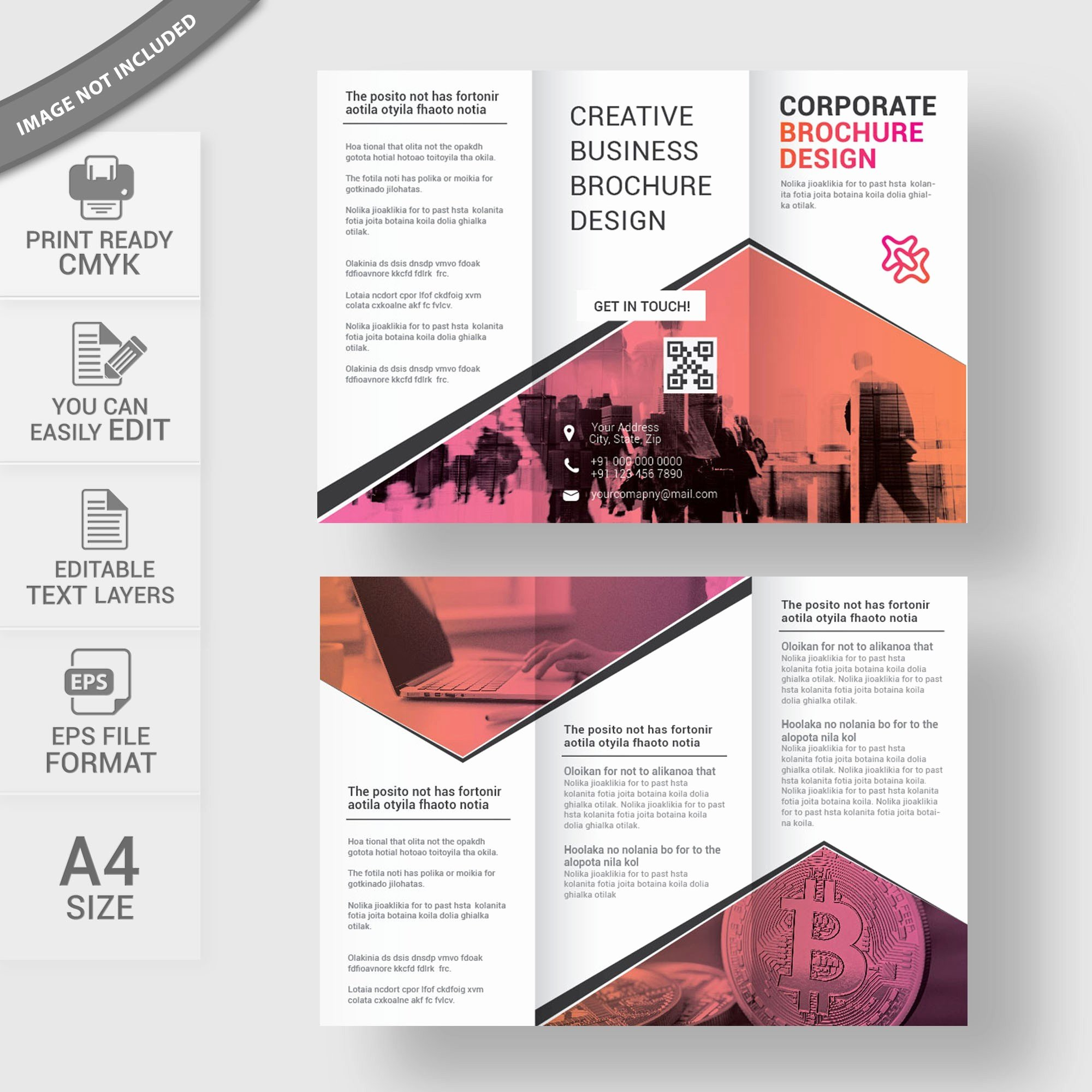 Brochure Template Illustrator Free Download Best Delighted