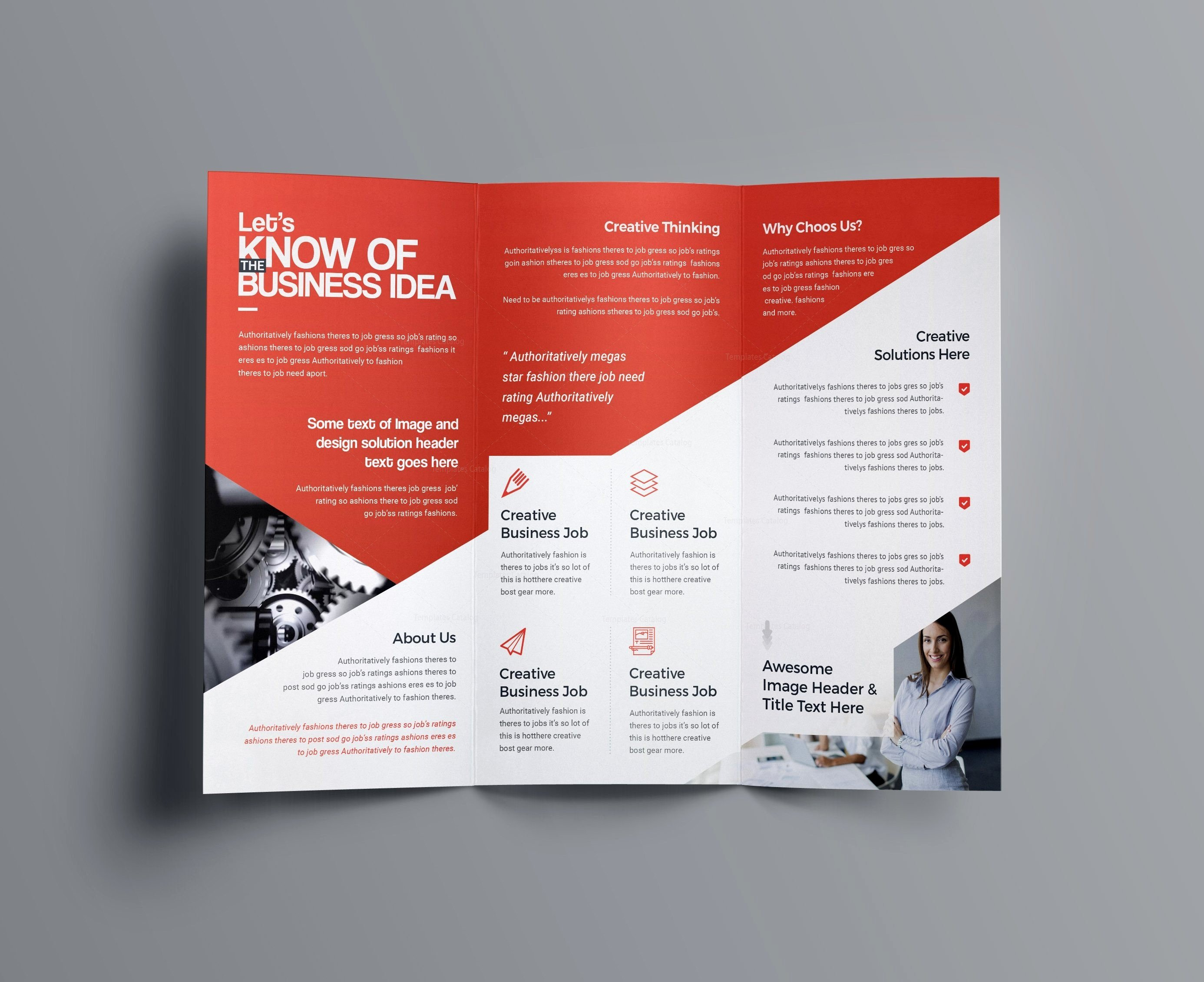 Brochure Template Indesign Free Download