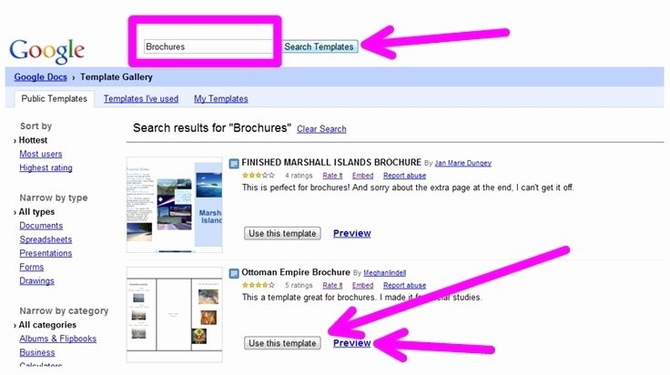 Brochure Templates Google Docs Beepmunk