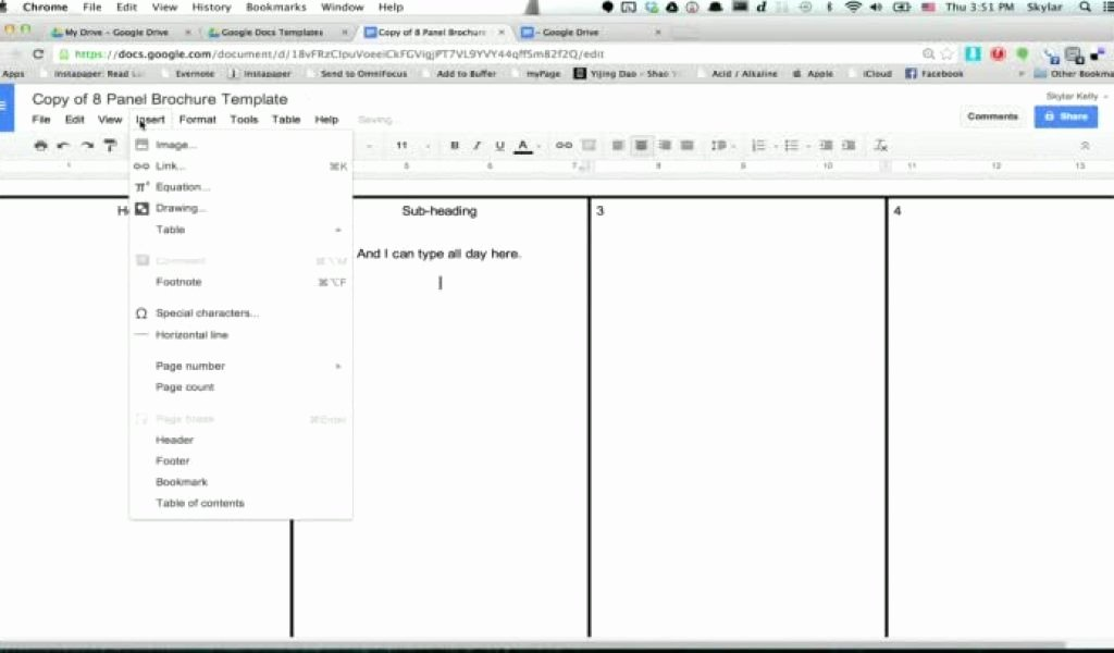 Brochure Templates Google Docs