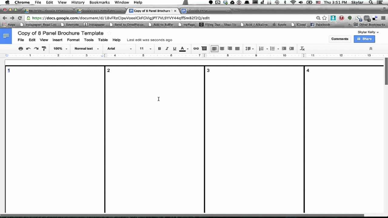 Brochure Templates Google Drive