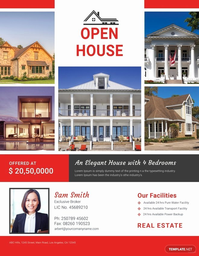 Broker Open House Flyer Template