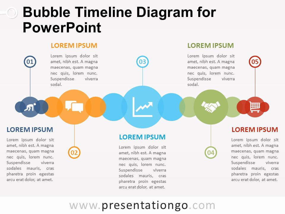 Bubble Timeline Diagram for Powerpoint Presentationgo