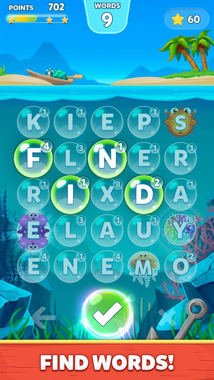 Bubble Words Letter Splash Juego De Palabras