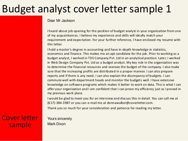 Bud Analyst Cover Letter