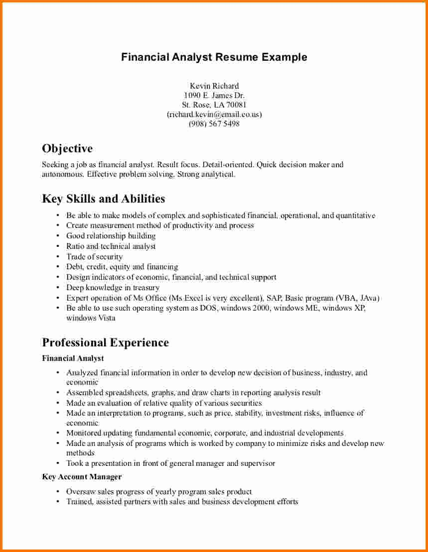 Bud Analyst Resume Career Change