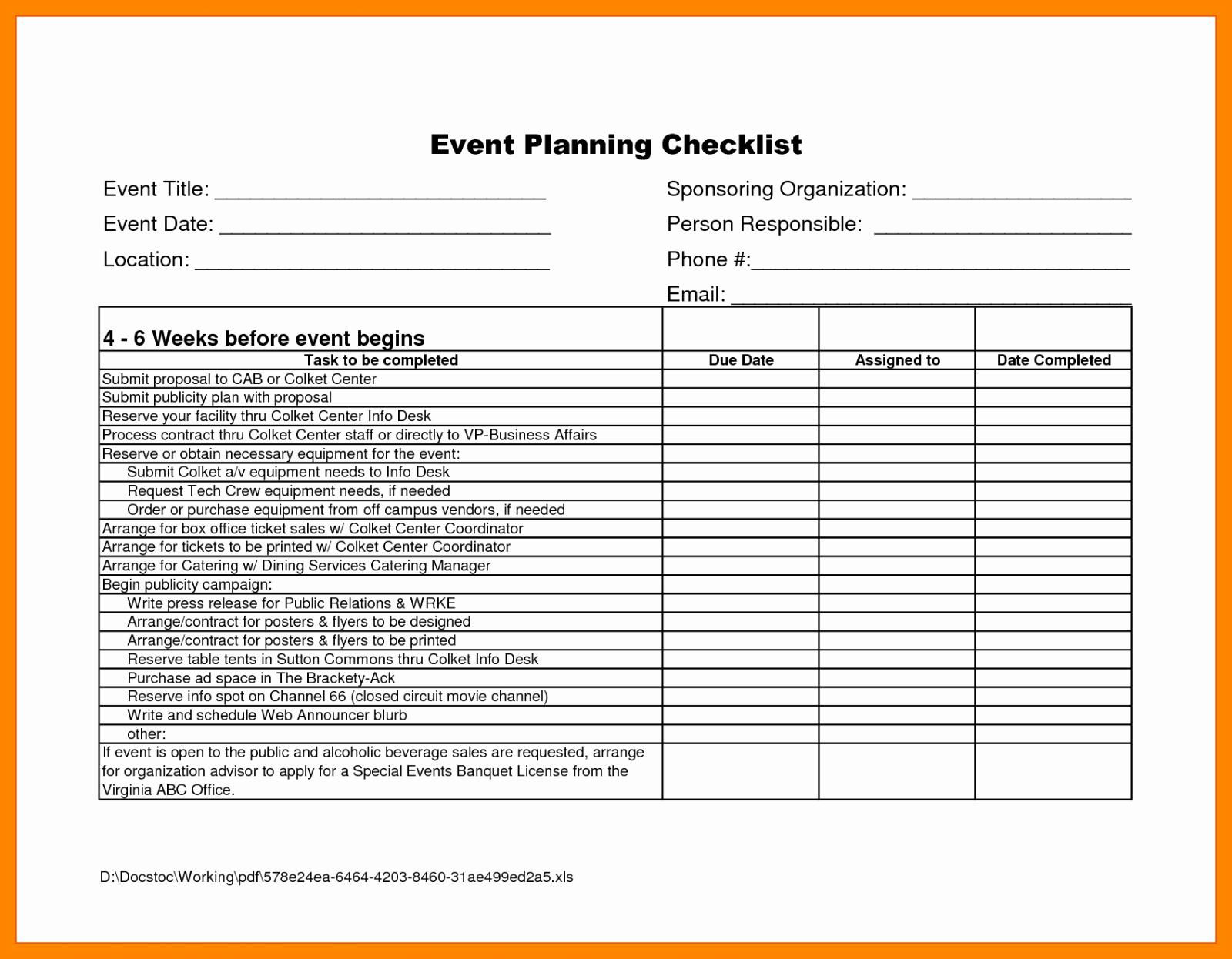 Bud Worksheet event Planner Free Planning Simple