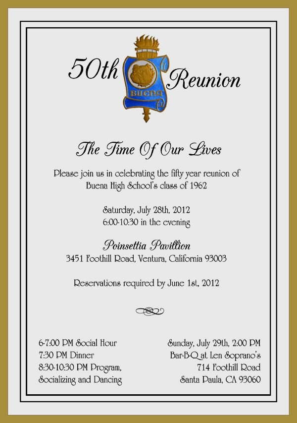 Buena50 Reunion Invitation 600×853 Pixels